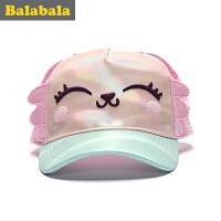 巴拉巴拉童装女童小童帽子儿童时尚帽童帽2017夏季新款休闲帽子女