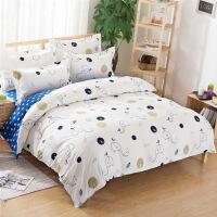 御目 床上用品三件套 夏季学生员工宿舍寝室上下铺床单被套被罩枕头套家居用品