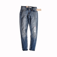 Levis/李维斯女款牛仔裤女士修身小脚薄款浅色牛仔裤