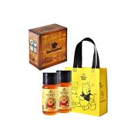 【年货礼包】台湾进口蜜蜂工坊蜂蜜新年礼盒2瓶装(700g*2) 小熊维尼系列蜂蜜手作蜂蜜天然好蜜