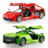 儿童小汽车玩具模型合金玩具车仿真男孩跑车1:32车模回力声光开门