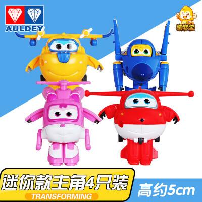 超级飞侠玩具乐迪包警长小爱飞机正版奥迪双钻变形机器人儿童套装1