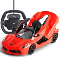 爱儿乐 遥控车法拉利玩具车仿真车模型车赛车跑车漂移遥控汽车儿童玩具充电赛车 代写卡片