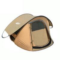全自动野外露营帐篷户外3-4人家庭双人情侣套装
