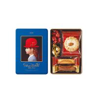 【年货】红帽子什锦曲奇饼干新年礼盒 蓝色礼盒66g 日本进口休闲零食巧克力糖果伴手礼