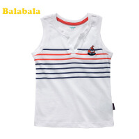 巴拉巴拉童装夏装新款男幼童背心儿童条纹休闲舒适背心