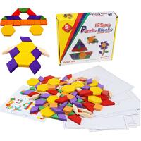 木制七巧板拼图益智力婴幼儿童宝宝早教学积木几何认识图形玩具1