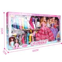 儿童婚纱娃娃礼盒套装 8套衣服搪胶洋娃娃 女孩过家家玩具