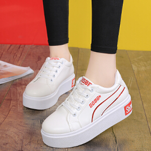 妃枫霏春秋新款低帮系带单鞋圆头拼色板鞋女韩版学生潮鞋运动单鞋