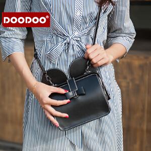 DOODOO 小包包2017新款时尚女包韩版个性斜挎百搭女士单肩医生包潮 D6197 【支持礼品卡】