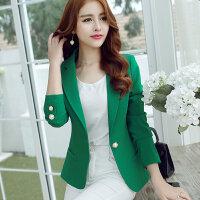 2017春季新款西装外套女士大码时尚休闲显瘦修身长袖小西装CDFR8088