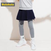 巴拉巴拉女童打底裤童装裤子儿童秋装2017新款中大童弹力裙裤潮