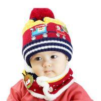 男女童帽子围巾两件套 宝宝韩版潮帽围巾两件套 儿童帽子围巾两件套宝宝毛线针织帽围脖加绒2件套保暖护耳帽