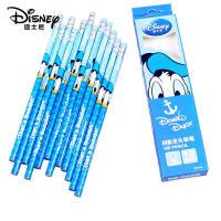 迪士尼disney米奇小学生文具12支装皮头铅笔带橡皮盒装