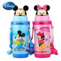 迪士尼不锈钢保温杯 小号妙趣吸管杯 儿童便携背带壶