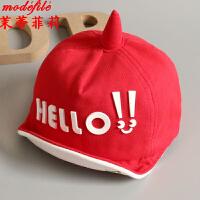 茉蒂菲莉 儿童帽子 2017夏季新款纯棉儿童帽0-2岁男童女孩棒球帽限时抢薄款宝宝春秋太阳帽婴儿帽帽子