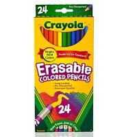 Crayola绘儿乐 24色可擦彩色铅笔 儿童绘画涂鸦文具68-2424