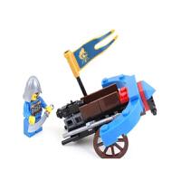 启蒙 中古狮王城堡玩具 军事拼装积木塑料拼插 男孩儿童益智玩具 1011强驽车