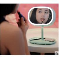 高亮收纳小台灯简约耐用usb充电触摸调光带镜子灯创意护眼化妆镜台灯