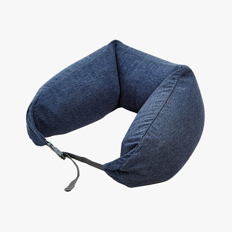 当当优品家纺 纯棉针织U枕 旅行枕午睡颈枕腰枕 深灰当当自营 MUJI制造商 360°承压 午睡 旅行必备 微粒子填充