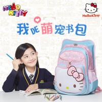 HelloKitty卡通儿童减压护脊书包可爱女孩KT猫PU皮小学生书包蝴蝶结