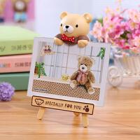 御目 相框 6寸7寸可爱时尚卡通小熊摆台儿童宝宝装饰品摆件客厅卧室幼儿园相架摆饰