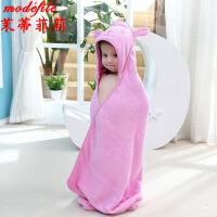 茉蒂菲莉 0-6岁宝宝浴巾 棉可爱浴衣儿童披风浴袍小朋友带帽抱被浴披毛巾宝宝婴儿洗澡浴巾