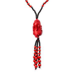 芭法娜 纳财貔貅 时尚朱砂毛衣链 红色新年礼物