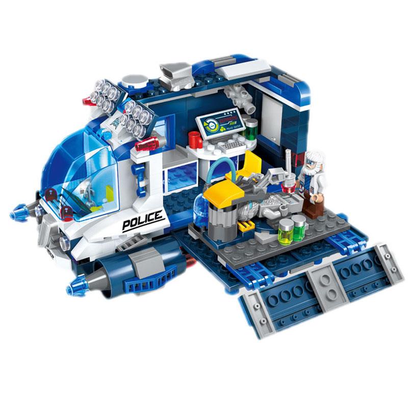 启蒙积木 星际冒险系列 儿童拼装玩具 立体拼插积木 1612星际维修车