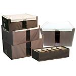 [当当自营] LOCK&LOCK乐扣   收纳箱特惠4+1套装LLB146CW001e咖啡色圆点 收纳箱 柜 优品优质收纳盒整理箱