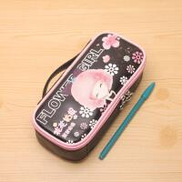 花花姑娘韩国可爱笔盒简约文具袋手提书包铅笔袋 女孩文具袋
