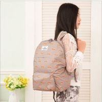 韩版尼龙防水折叠背包旅行行李收纳包卡通折叠双肩包