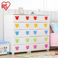 爱丽思/IRIS 环保塑料米奇扣儿童婴儿密闭抽屉式整理收纳柜MMG-554/MMG-555
