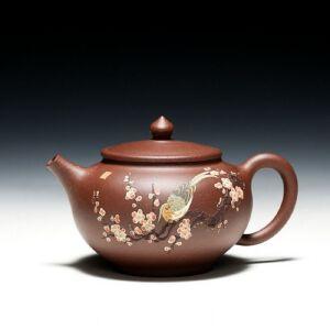 【只有一个】紫泥平盖紫砂壶 助工杨巧琴手工制作