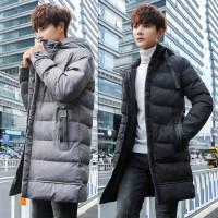 男士外套冬季新款棉衣加厚中长款青年棉袄连帽韩版潮男款棉服