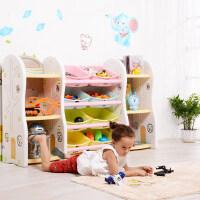 御目 书架 儿童玩具收纳架带书架储物架幼儿园宝宝整理架大容量置物架书柜儿童创意家具