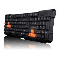 雷技 速豹K1游戏键盘 镭雕字体usb有线 魔兽cf 穿越火线电脑键盘 防水