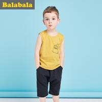 巴拉巴拉儿童短袖套装男小童宝宝2017夏季新款 短袖男幼童两件套