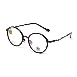 明治/KHDESIGN 超大框眼镜框男女复古文艺圆脸透明色素颜眼镜架可配近视 KS1718