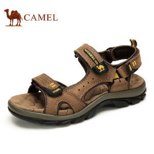 camel骆驼凉鞋 夏季男士沙滩凉鞋真皮户外休闲耐磨舒适时尚沙滩鞋男