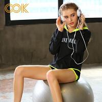 OOK瑜伽服健身服女套装秋冬显瘦健身房跑步运动服裤子外套两件套