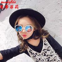 茉蒂菲莉 儿童太阳镜 2017夏季新款宝宝防紫外线墨镜限时抢男女童潮可爱眼镜框2-12岁个性眼镜