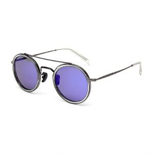 明治太阳镜女款圆框墨镜女潮7710时尚百搭潮流眼镜