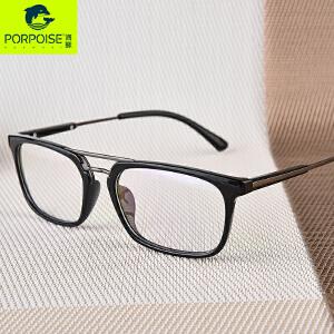 海豚新款超轻TR眼镜框女舒适方框眼镜架可配近视眼睛男大脸平光镜