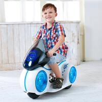 锋达  宝宝可坐人三轮童车小孩电瓶车玩具车带灯光音乐 儿童电动摩托车