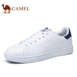camel骆驼男鞋 2017春季新品 百搭时尚滑板鞋情侣款舒适轻盈小白鞋
