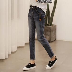 春季新款 弹力牛仔长裤女 潮 显瘦小脚裤