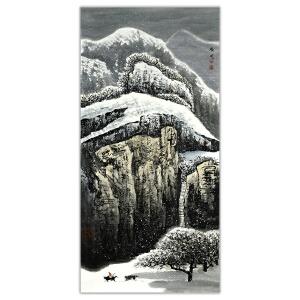 白庚延  雪景