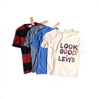 Levi's/李维斯新款男士短袖T恤纯棉圆领印花T恤15798-0066