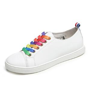 milkroses 炫酷彩虹系列牛纹低帮鞋